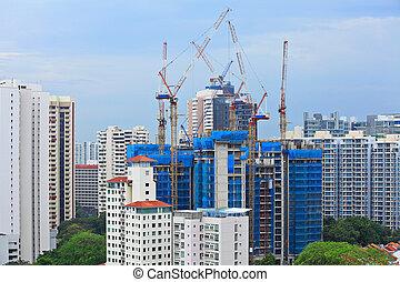 umieszczenie zbudowania, w, singapore