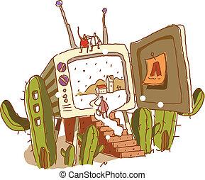 umieszczony, telewizja