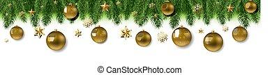umrandungen, kugel, pelz, weihnachtsbaum