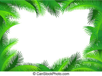 umrandungen, palmblatt