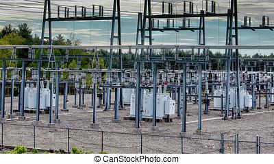 umspannwerk, infrastruktur, elektrisch