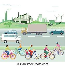 Umwelt grunes Land.eps - Traffic and environment,...
