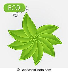 umwelt, ikone, mit, plant., vektor, abbildung