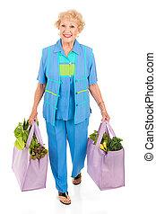 umweltsmäßig, bewusst, älter, käufer