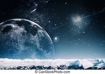 un altro, mondo, paesaggio, astratto, fantasia, sfondi