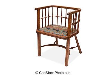 un, anticaglia, legno, cenando, sedia