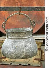 un, anticaglia, vaso, appendere
