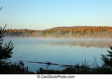 un, autumn\\\'s, paisaje