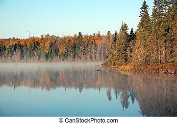 un, autumn\\\'s, paisaje, wi
