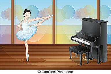 cerca bailarines bailando