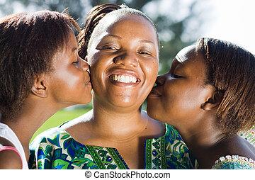 un, beso, para, madre