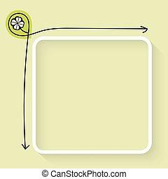 un, blanco, caja texto, y, hoja de trébol, icono