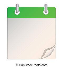 un, blanco, calendario