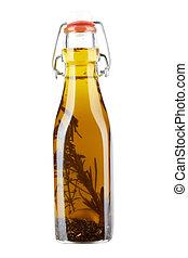 un, botella, de, aceite de oliva