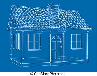 Albergue construcci n verde dibujos techo ilustraciones for Casas con tablillas
