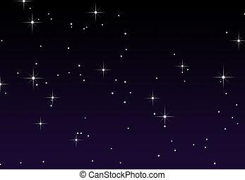 un, cielo estrellado