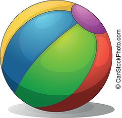 un, colorido, pelota de playa