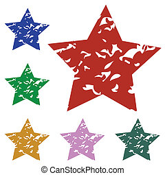 un, conjunto, de, estrellas