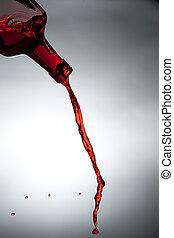 un, corriente, de, alcohol, de, un, bottle.