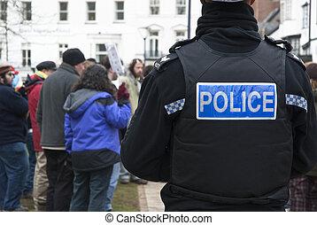 un, devon, y, corwall, policía, relojes, el, ocupar, exeter,...