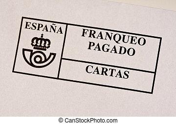 un, español, matasellos