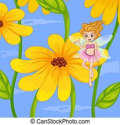 un, flor, hada