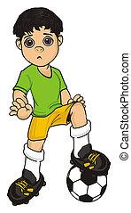 un happy soccer player