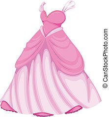 un, hermoso, vestido rosa