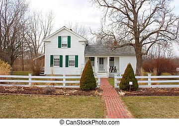 un, histórico, residencia