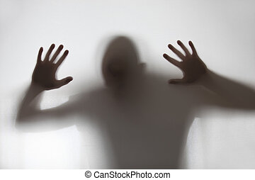 un, humano, sombra