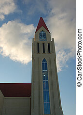un, iglesia, torre