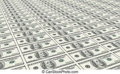un, intonso, foglio, di, cento dollari