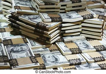 un, millón, dólares