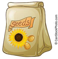 un, paquete, de, semillas de girasol