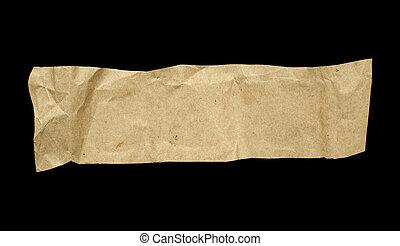 un, pedazo, de, papel arrugado