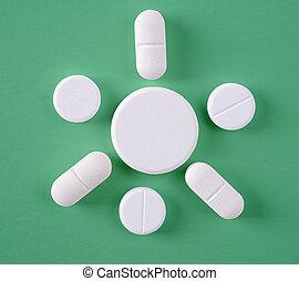 un po', di, bianco, pillole