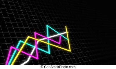 un po', grafici, in, spazio, con, griglia, per, dimostrare,...