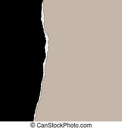 un, rasgado, textured, papel, plano de fondo