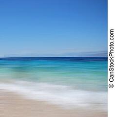 un, resumen, mar, vista marina