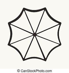 un, svart, mobil, ansökan, lägenhet, paraply, vit