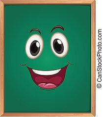 un, verde, tabla