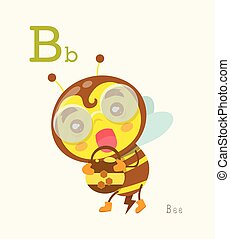 un-z, gosses, série, mignon, alphabet, animal, education.