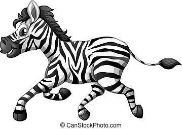 un, zebra, corriente