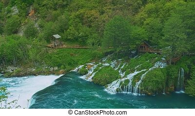 Una river waterfall - Beautiful nature of the Una river...