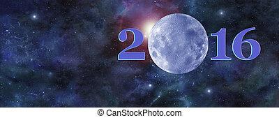 una vez en una luna azul, 2016, encabezamiento