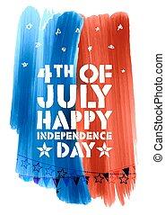 unabhängigkeit- tag, viert, juli, glücklich, hintergrund, ...
