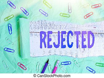 unacceptable, texte, mot, refuser, congédier, concept, ...