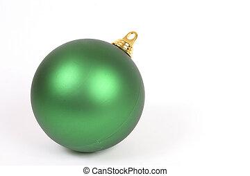 Unadorned Christmas ball