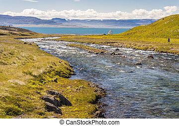 Unadsdalur village - Iceland, Westfjords.