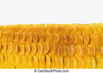 Unappetizing grilled corn - Part of unappetizing grilled...